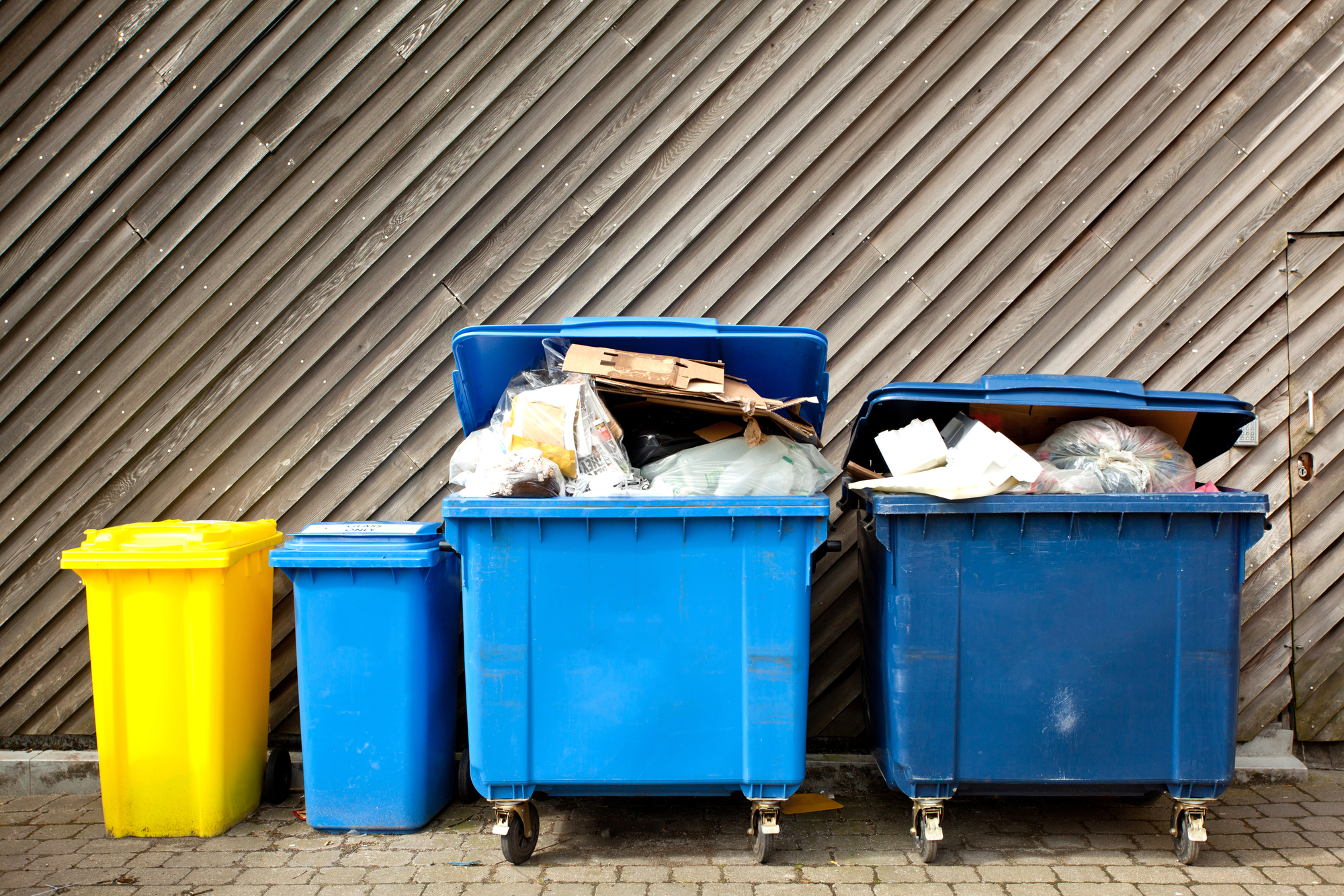 Multiple Wheeled Trash Bins For Waste Management Audits Blog