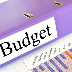 Budget On Purple Binder With Monthly Chart For Finding New Vendors During Budget Season Blog