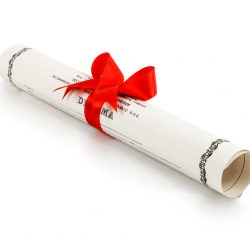 Rolled Up Diploma With Red Ribbon For Best Undergraduate Degrees For Property Managers Blog