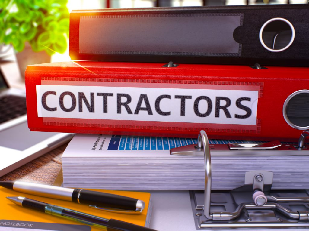 Contractors Folder Contains Approved Vendor Lists For Commercial Property Management Company