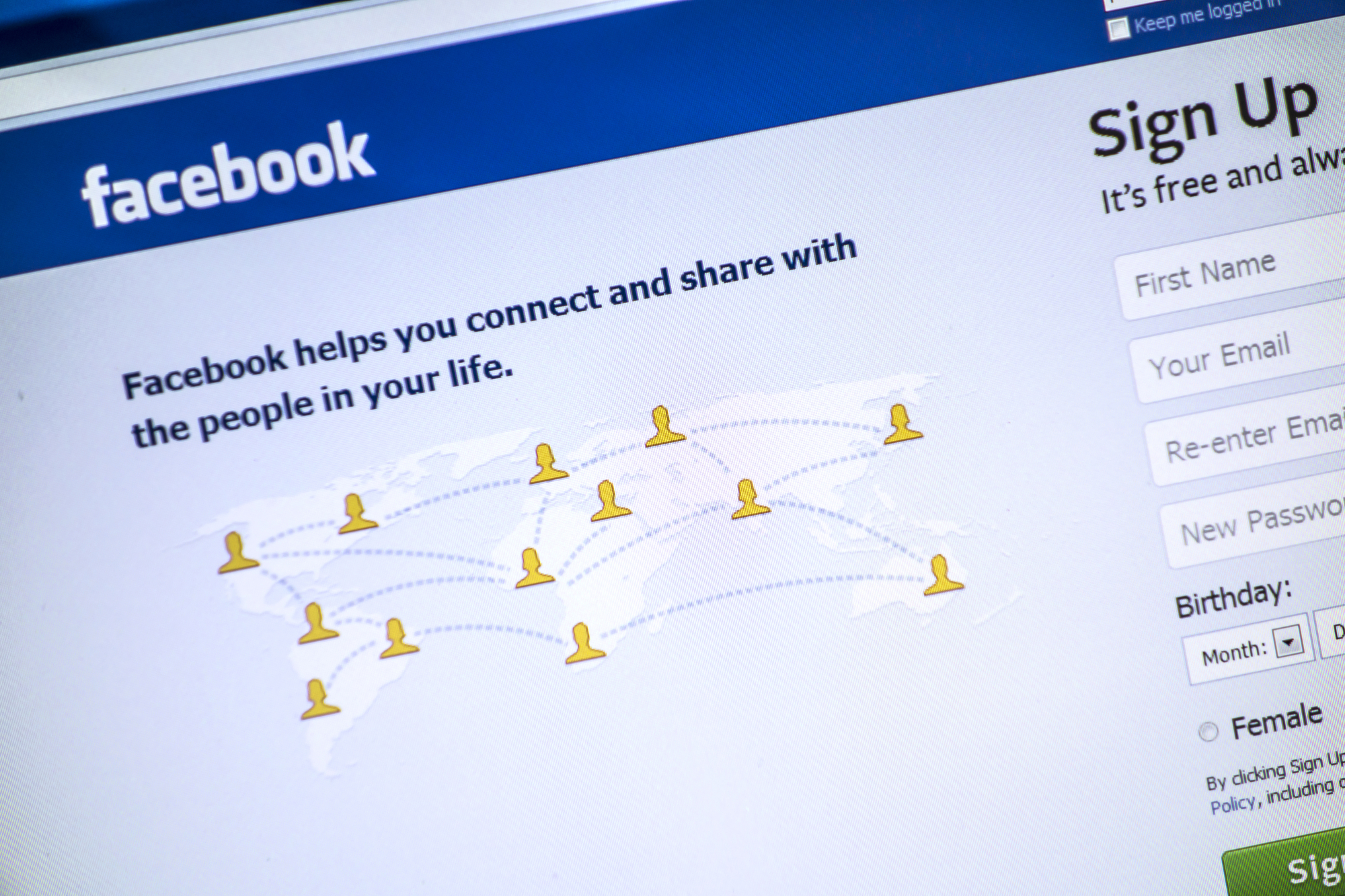 Facebook Sign Up Page For using Facebook Groups to find commercial contractors blog