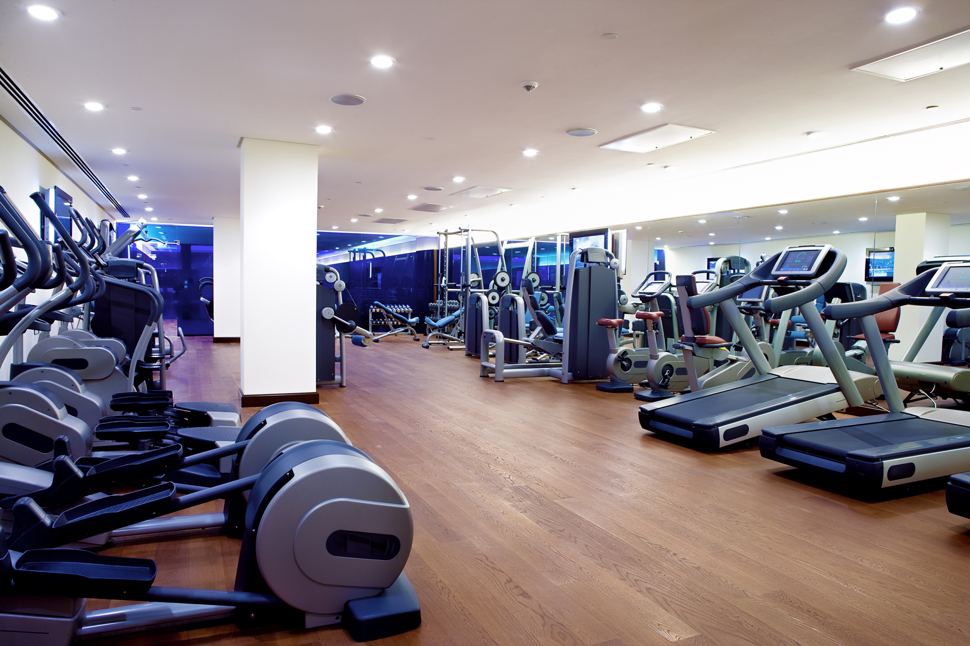Empty Gym That Needs To Increase Apartment Fitness Center Use