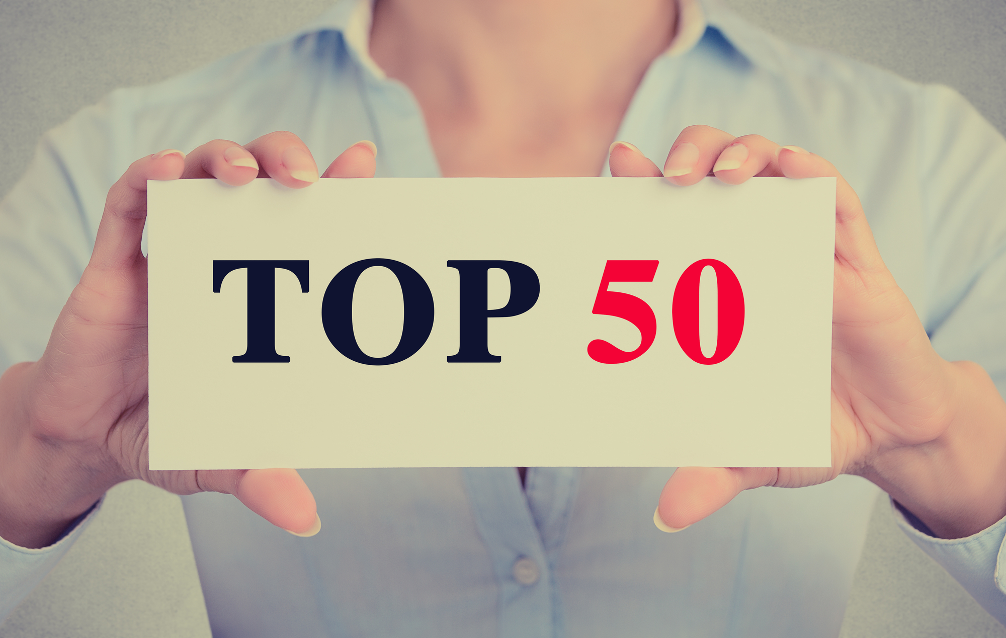 Top 50 On Note Card Held By Woman For 50 Largest Apartment Owners Blog
