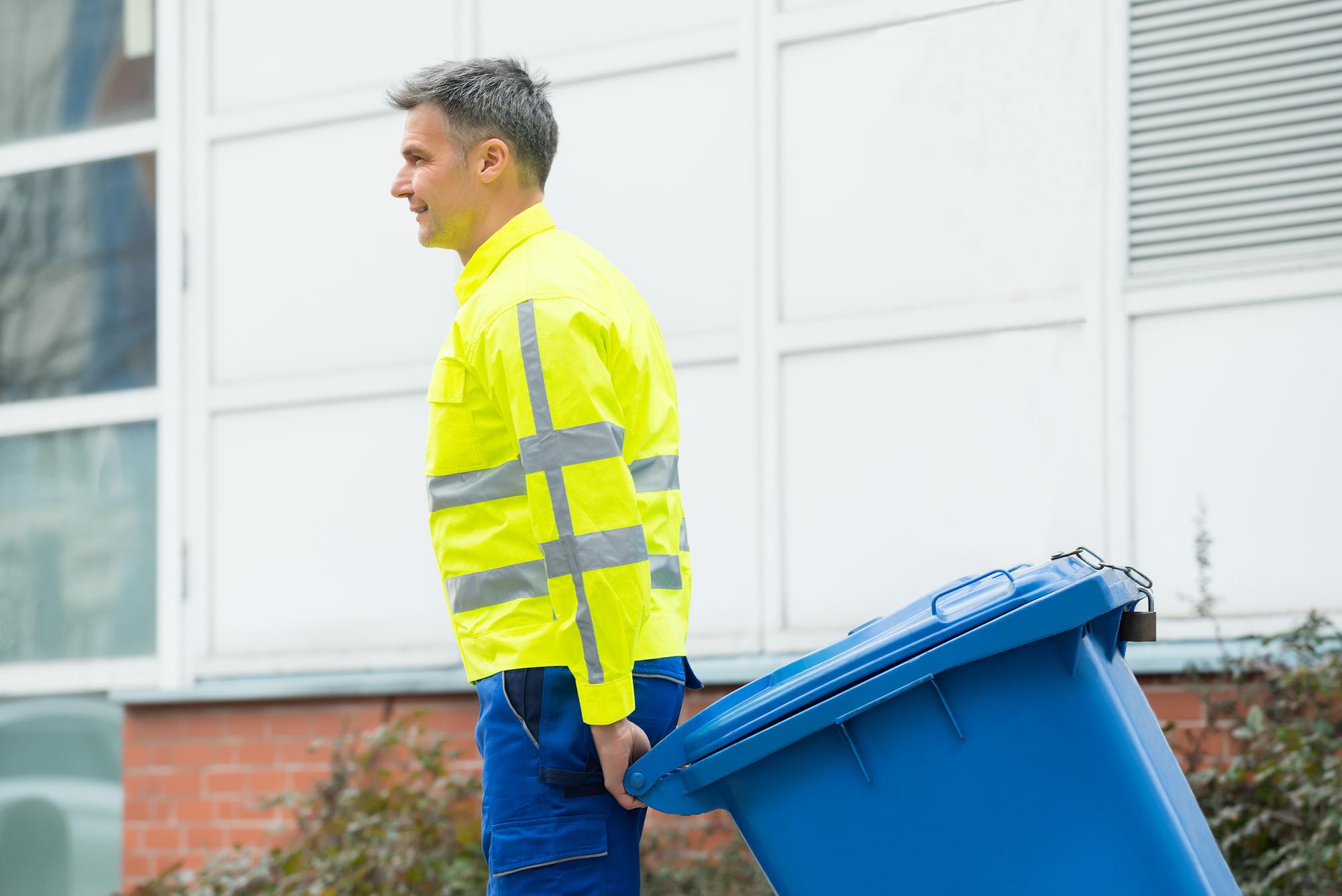 Professional Trash Valet Removing Trash From Apartment Community For Valet Trash Service Locator Blog